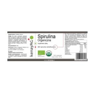 zdrowie naturalnie kenay spirulina organiczna etykieta