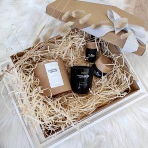 zdrowie naturalnie zestaw prezentowy kosmetyki orcideo świeca vincabee czarne