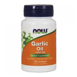 zdrowie naturalnie olej z czosnku garlic oil 1500 mg now foods