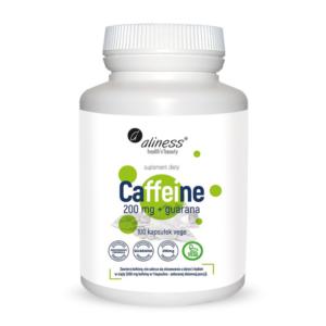 zdrowie naturalnie caffeine + guarana 200mg aliness