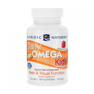 zdrowie naturalnie daily omega kids truskawka nordic naturals